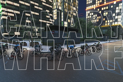 Canary Wharf Virtual Cycling